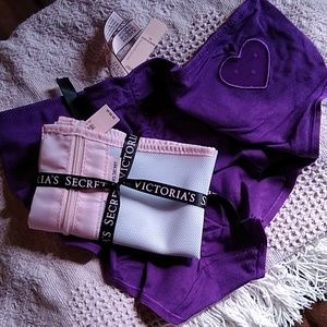Victorias Secret Ruched Heart Panty & Lingerie Bag